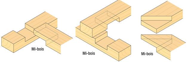3 exemples d'assemblage en mi-bois
