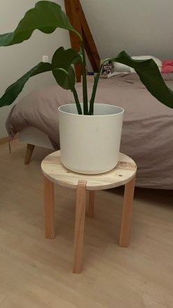 Jolie tabouret pour mettre en valeur vos plantes !
