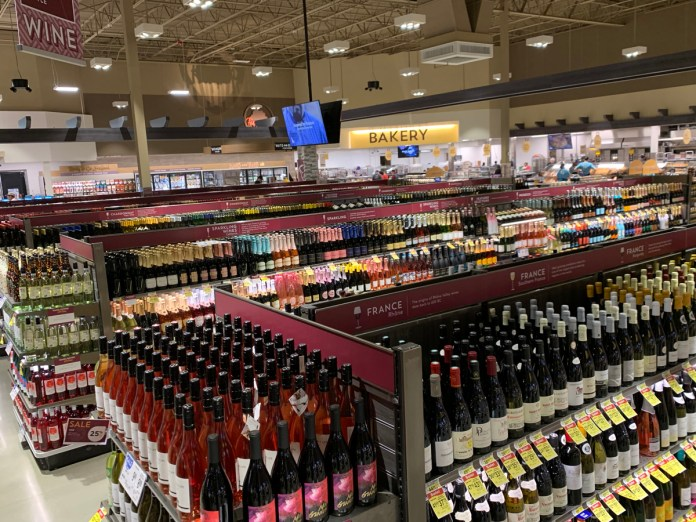 Albertsons Meridian wine selection
