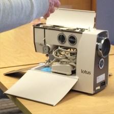 Chris' new cute little sewing machine