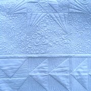 close up of intricate quilting