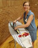 woman ironing