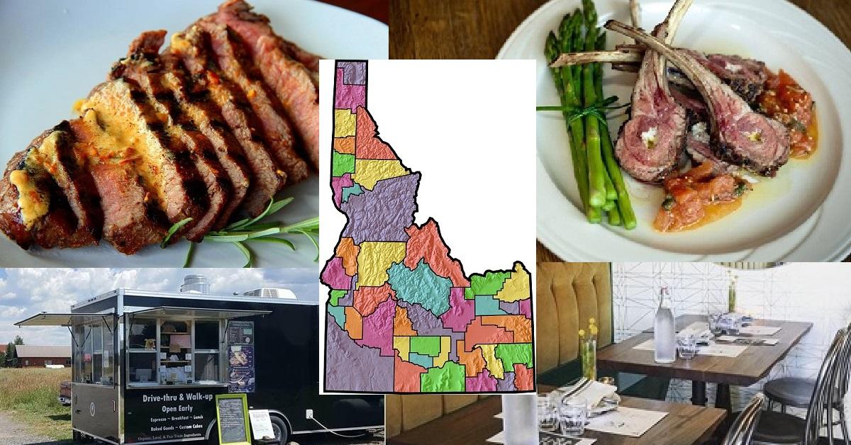 Best Restaurant in Each Idaho County 2018 Boise Ada Pacific Northwest