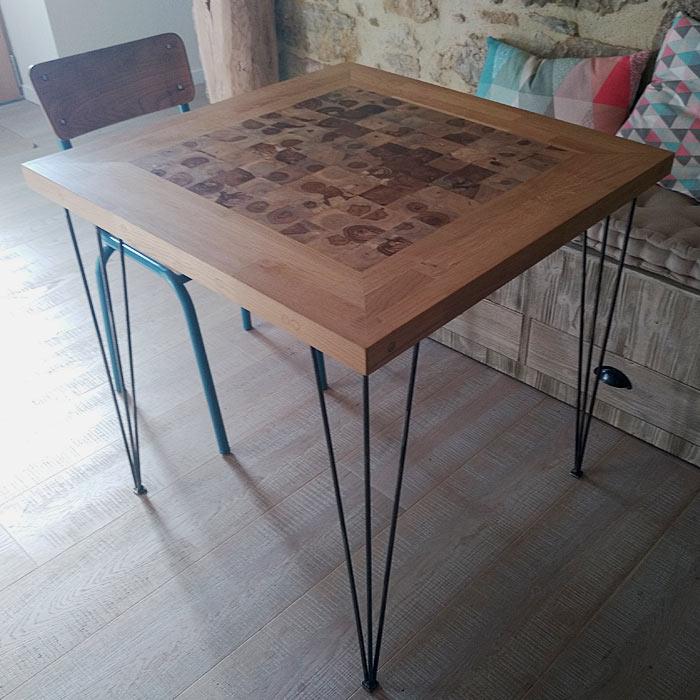 creation bois et fer mobilier deco