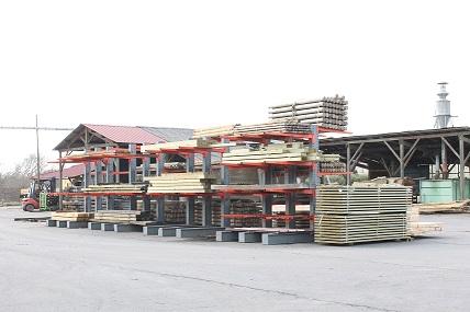 Rack stockage : bois de construction