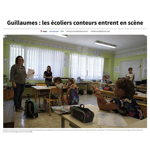 Guillaumes : les écoliers entrent en scène