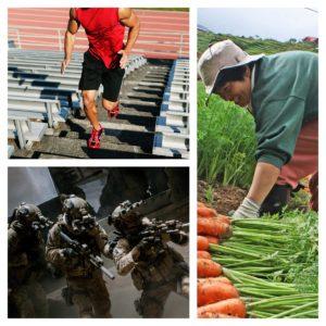 soldier athlete farmer