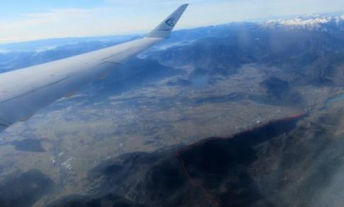 Današnja pot iz letala