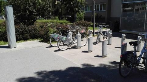 Sistem za izposojo koles v Ljubljani.