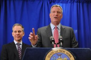 Bill de Blasio might make a point of avoiding Sydney Leathers.