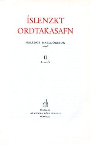 Íslenzkt orðtakasafn framhlið