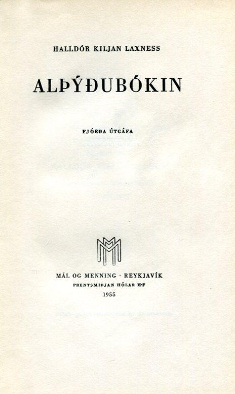 Alþýðubókin - Halldór Kiljan Laxness