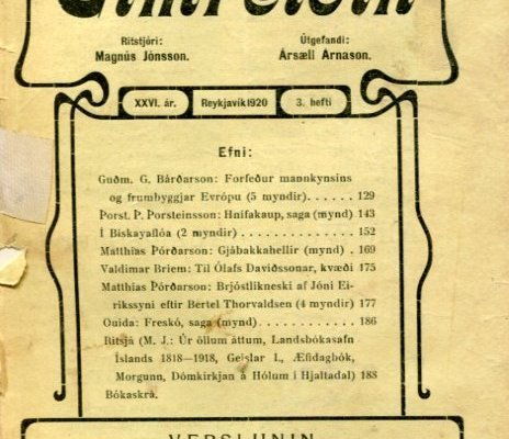 Eimreiðin, 1920, 3 tbl