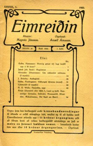 Eimreiðin, 1922, 1 tbl