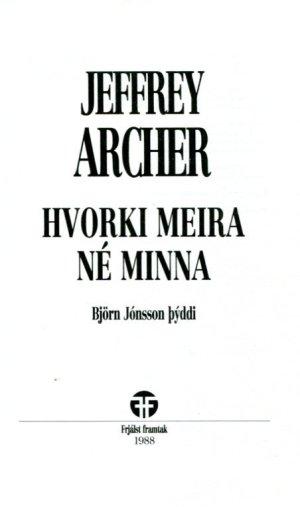 Hvorki meira né minna - Jeffrey Archer