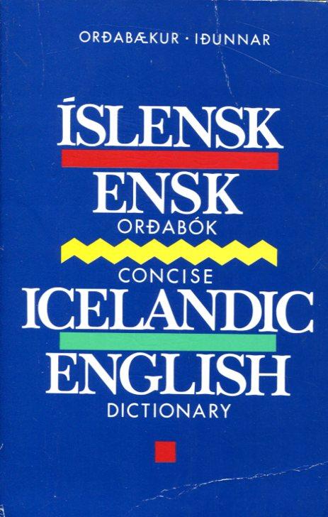 Íslensk-ensk 1989 Orðabækur Iðunnar