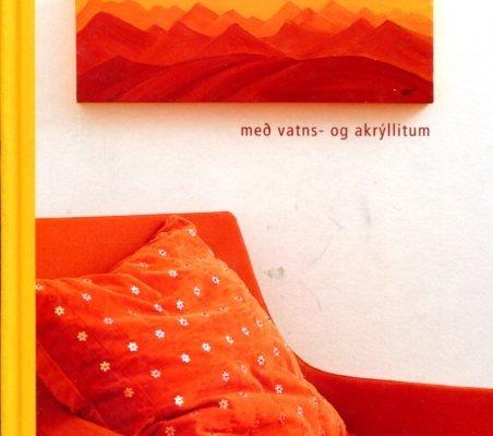 Málað með vatns- og akrýllitum