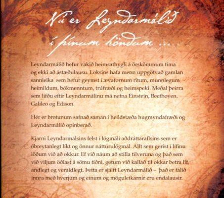 Leyndarmálið - The Secret bakhlið