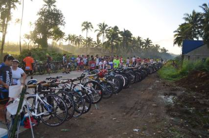 Bikes stationed at the transition area (Photo grabbed from Runaholic Facebook Page)