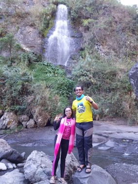 Posing before the majestic Bomod-ok Falls in Sagada