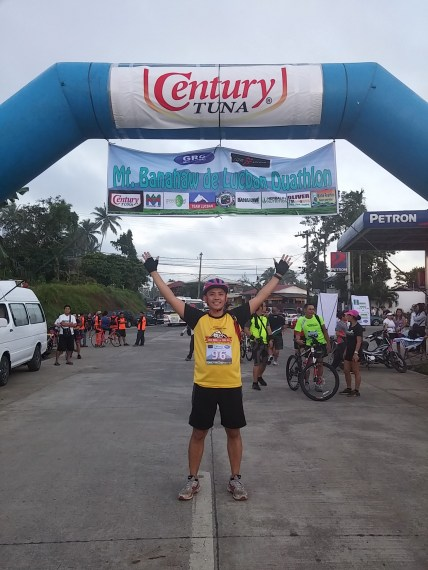 Photo-op at the Start/Finish Line