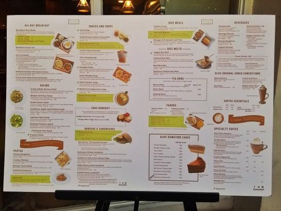 Slice menu