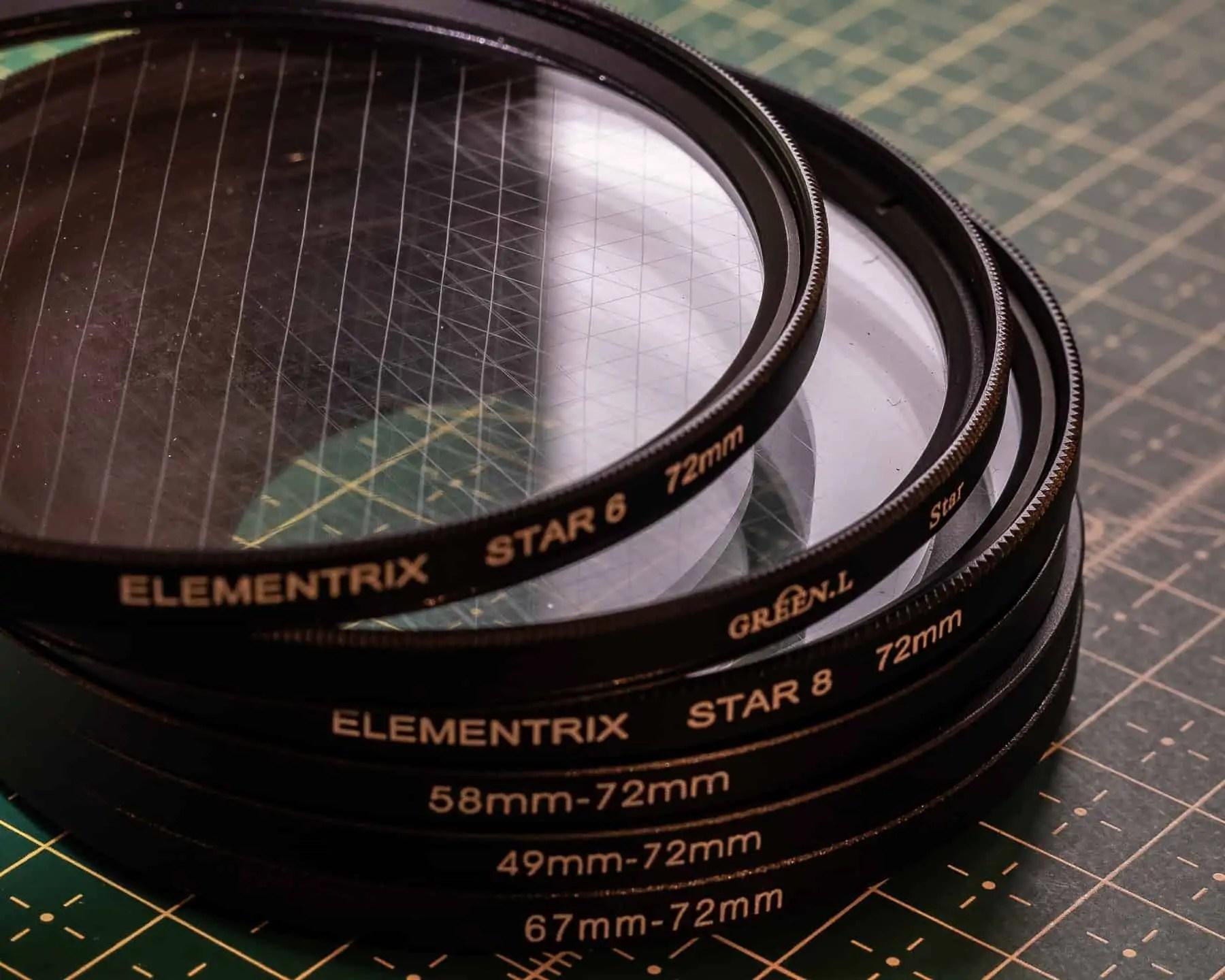 Filtr gwiazdkowy w fotografii filtr elementrix i filtr green makro 2 - Długi czas naświetlania zdjęcia - 3 długie ekspozycje!