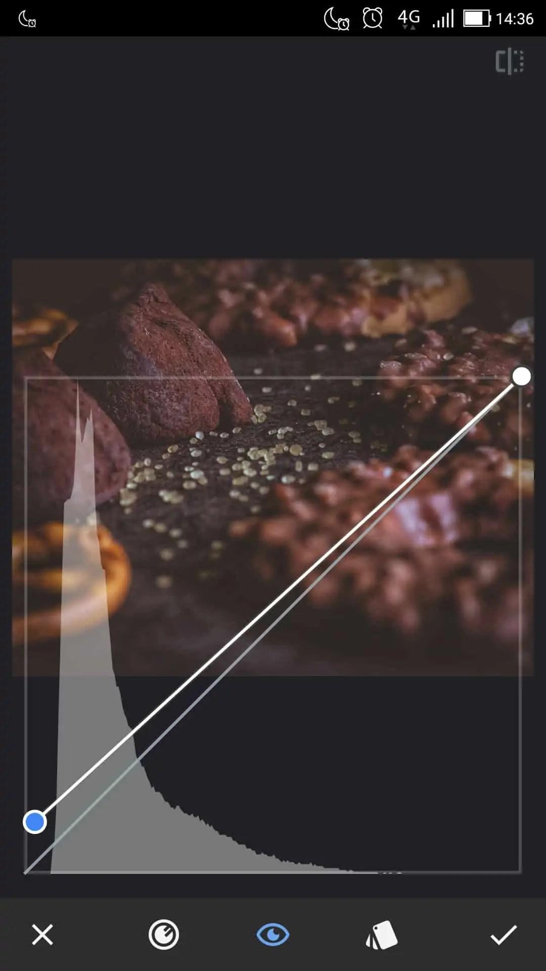 wykorzystanie krzywej do uzyskania matowego efektu na zdjęciu podniesienie cieni - Snapseed apka do zdjęć dla każdego