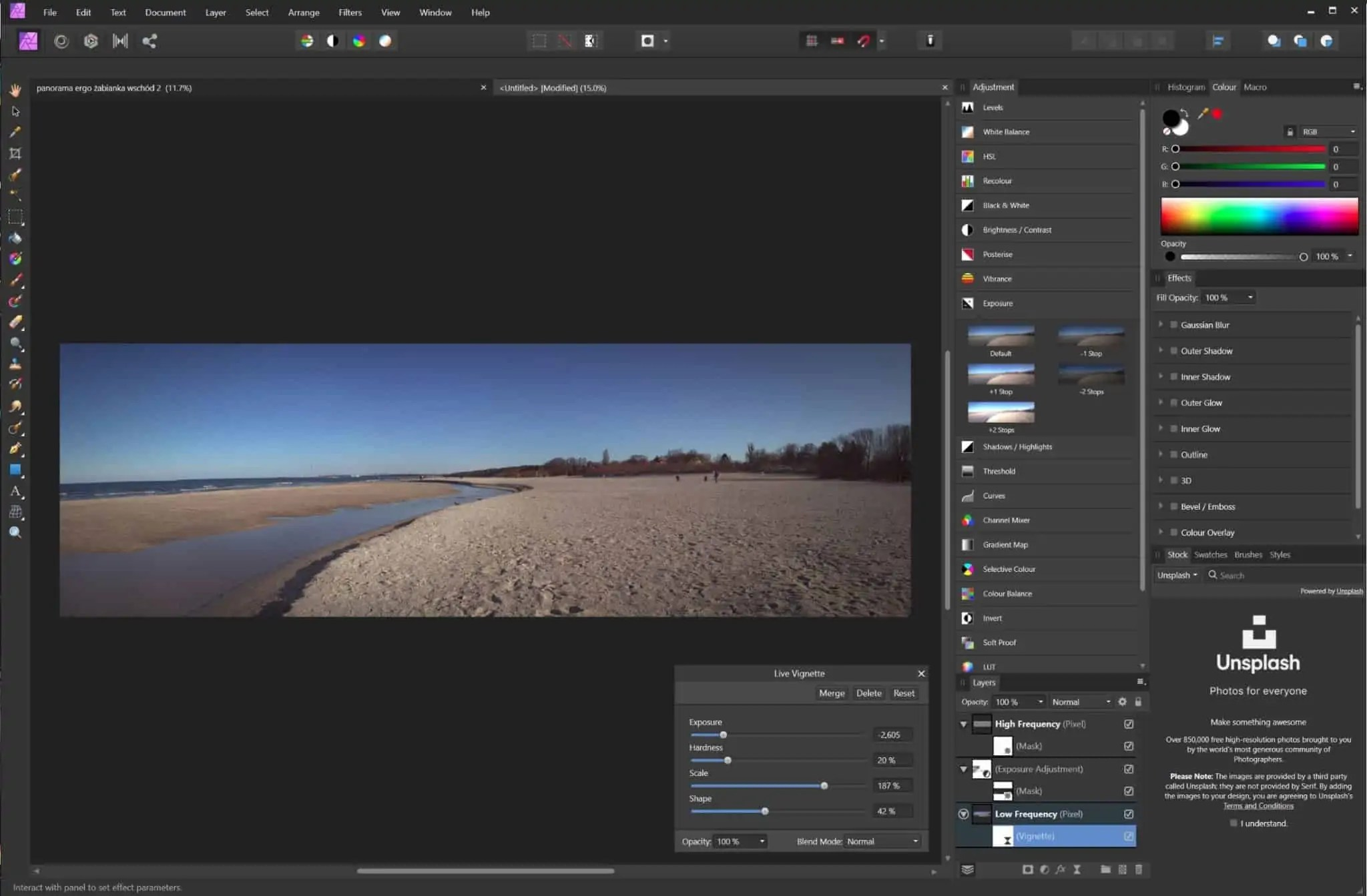 Moduł develop affinity photo główny ekran pracy grafiki scaled - Affinity photo - alternatywa dla photoshopa