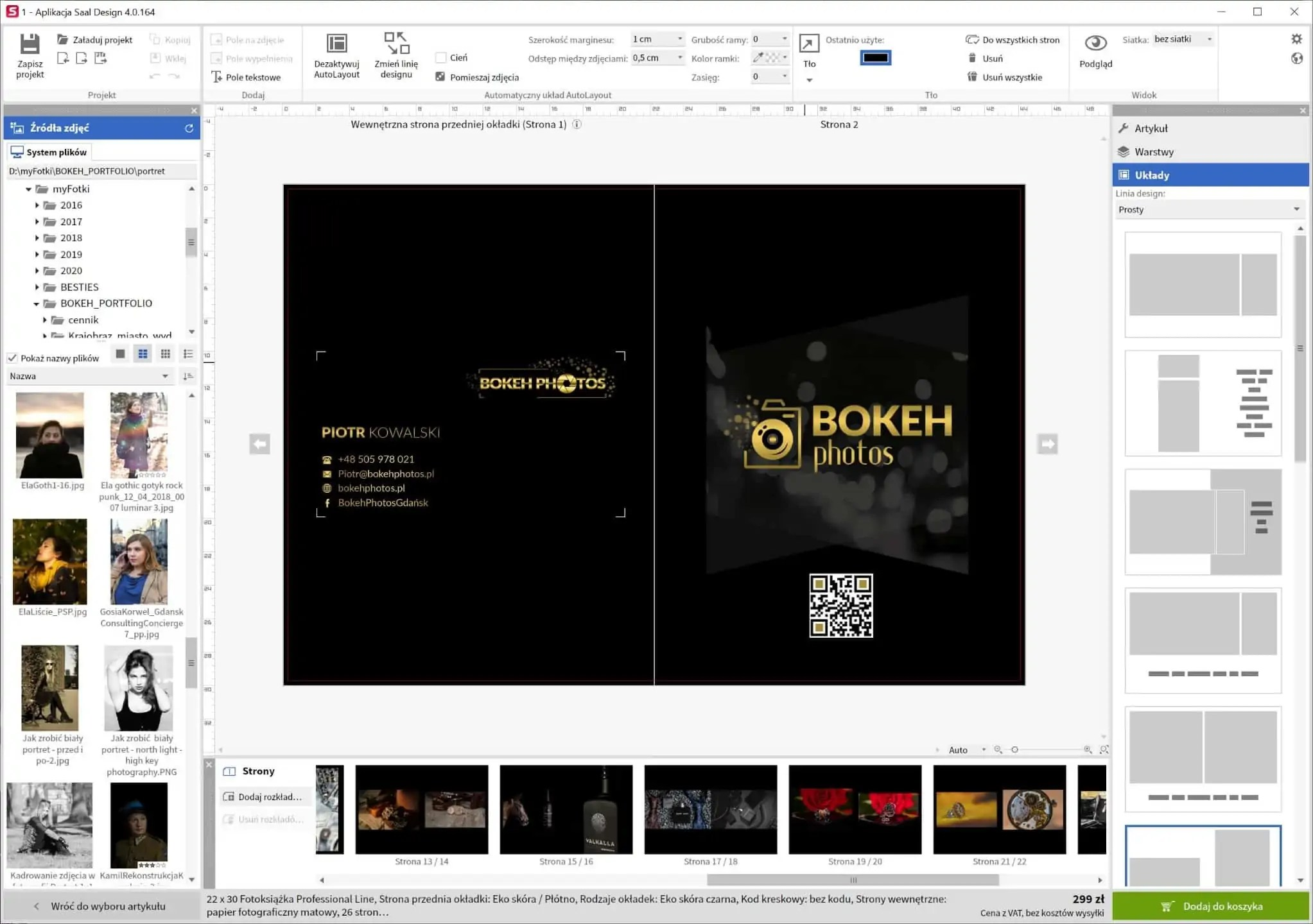 saal digital program do projektowania fotoksiążki - Saal design, pixbook - książki fotograficzne