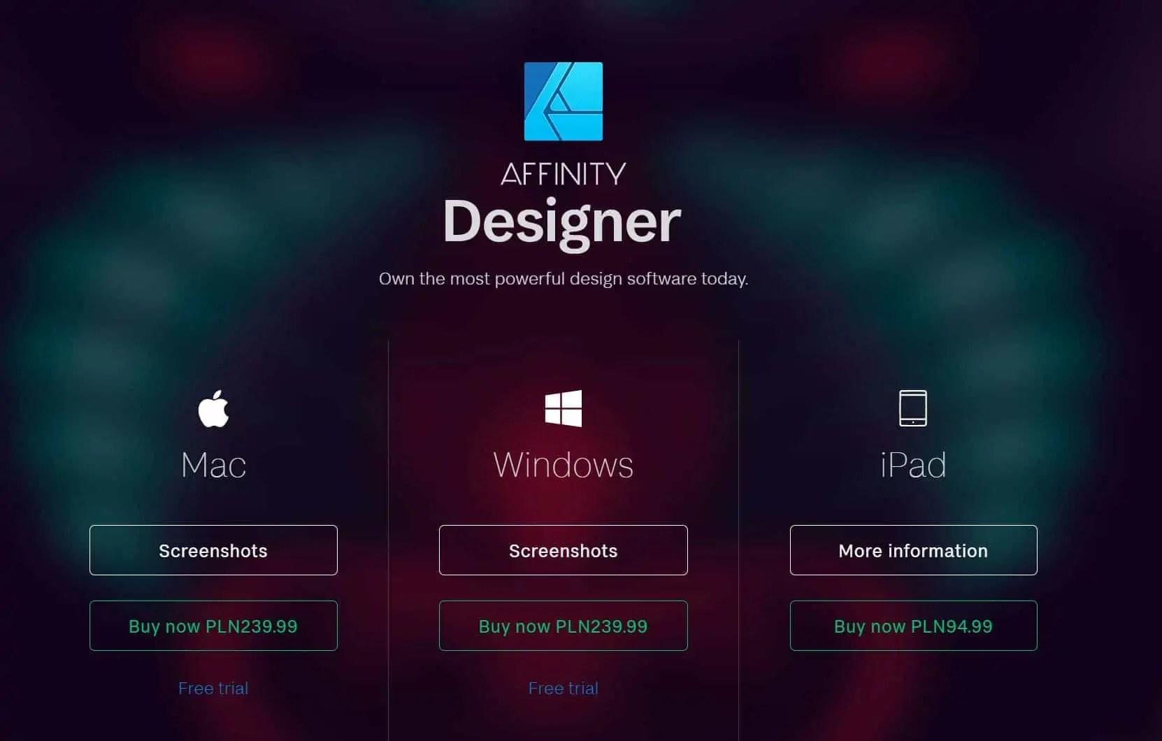 koszt affintiy designer - Affinity photo po polsku 5 najważniejszych zalet !