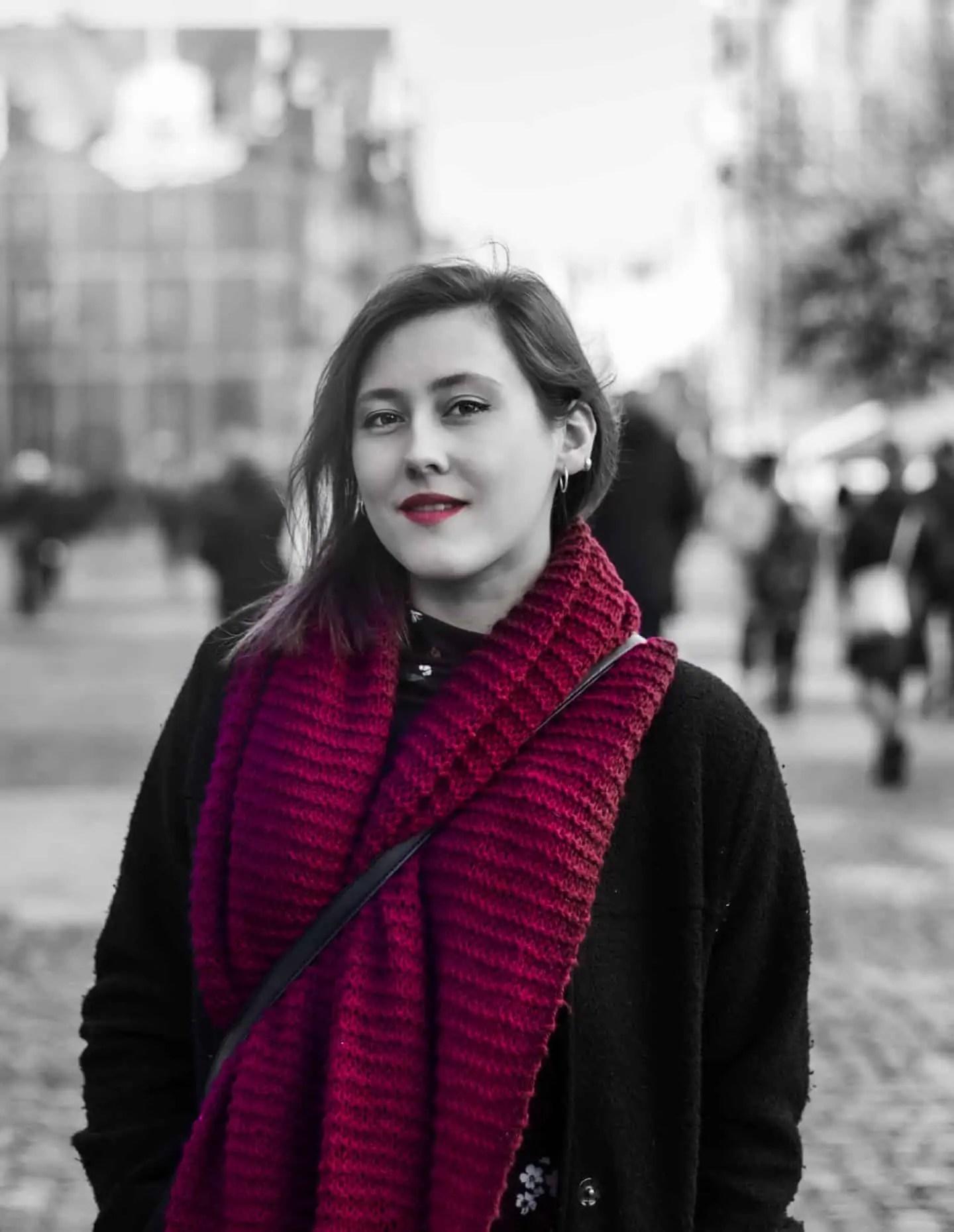 Portret Ela Gdansk BW kolorowy element - Fotografie do druku