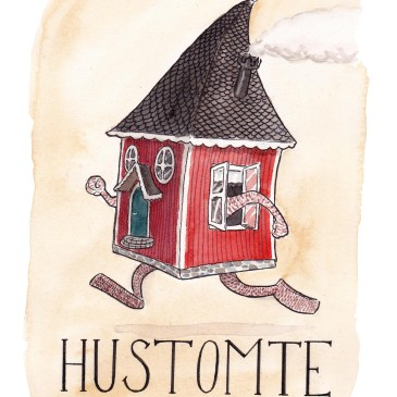 hustomte illustration ordvits