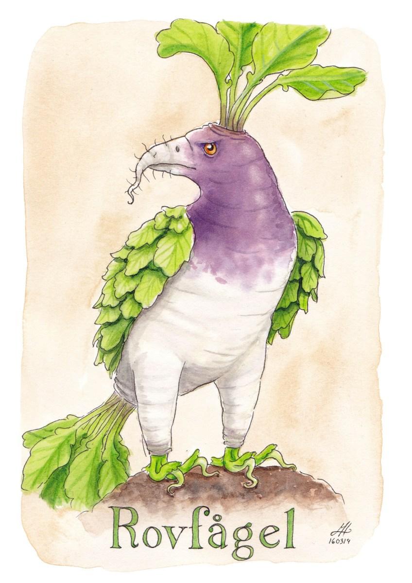 Rovfågel illustrerad ordvits