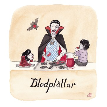 blodplättar illustration ordvits