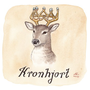 kronhjort illustration ordvits