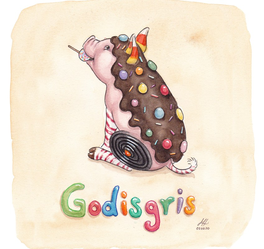 godisgris illustration ordvits