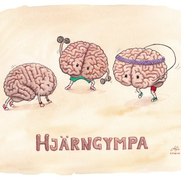 hjärngympa illustration ordvits