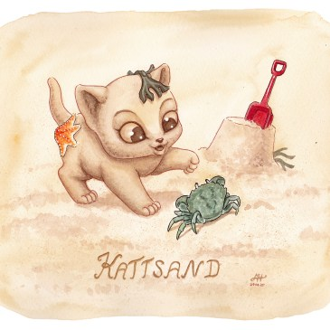 kattsand ordvits illustration