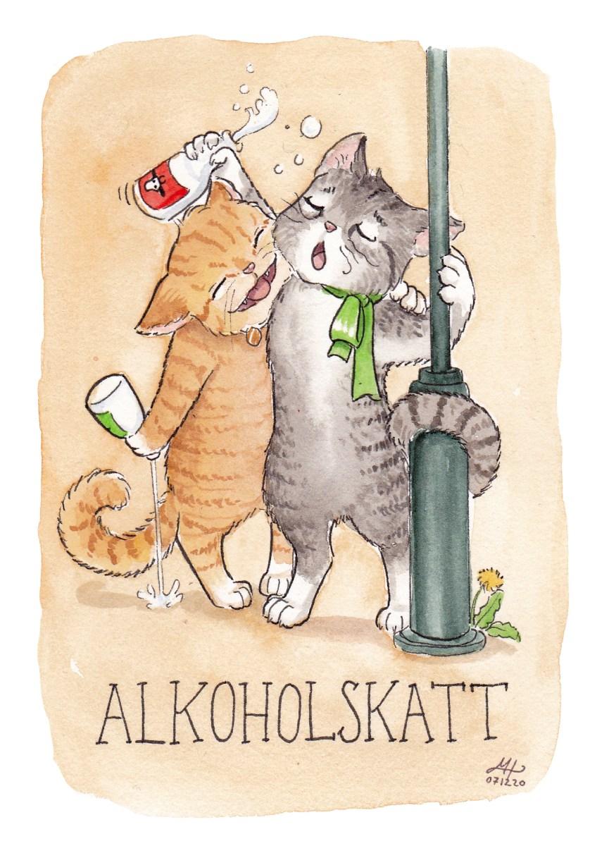 alkoholskatt illustration ordvits