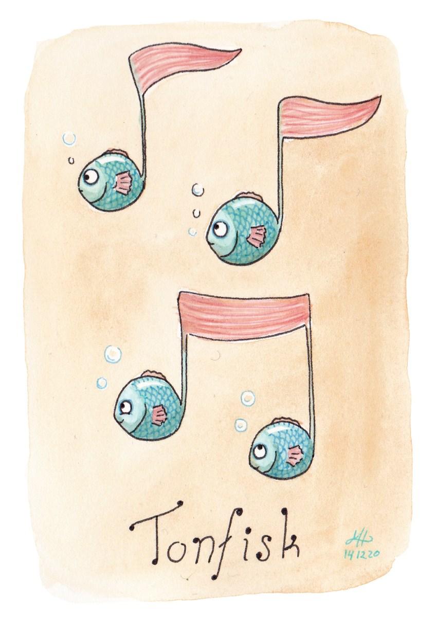 tonfisk illustration ordvits