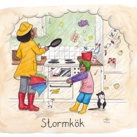 stormkök illustration ordvits