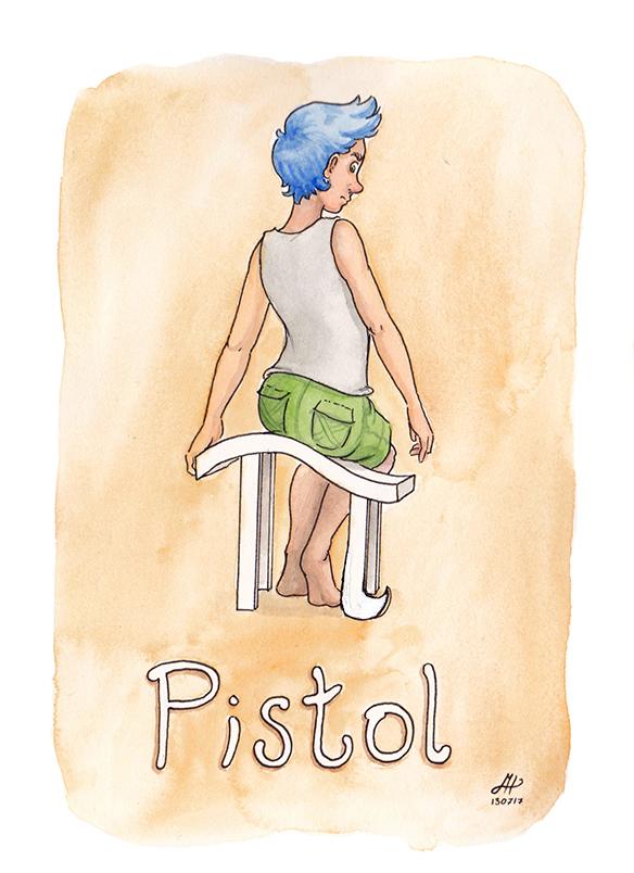 pistol illustration ordvits