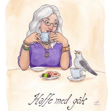 kaffegök illustration ordvits