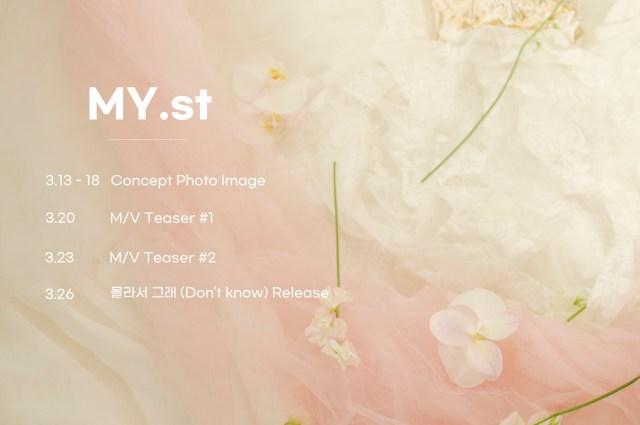 MY.st韓国デビュースケジュール