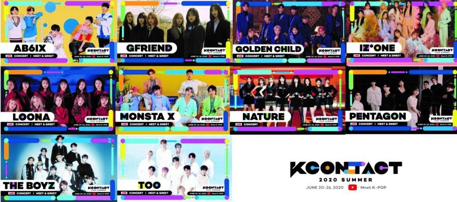 KCONTACT 2020 SUMMER 1st Lineup