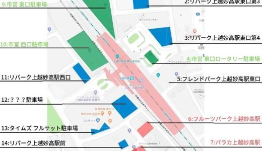 【2018年12月】上越妙高駅の駐車場について語らせたら長いボクがオススメする駐車場