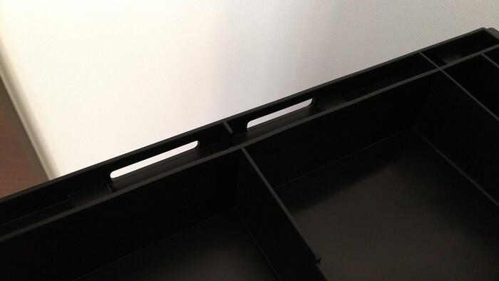 コンボライト背面の穴