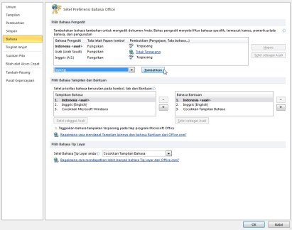 opsi bahasa ms office word 2010