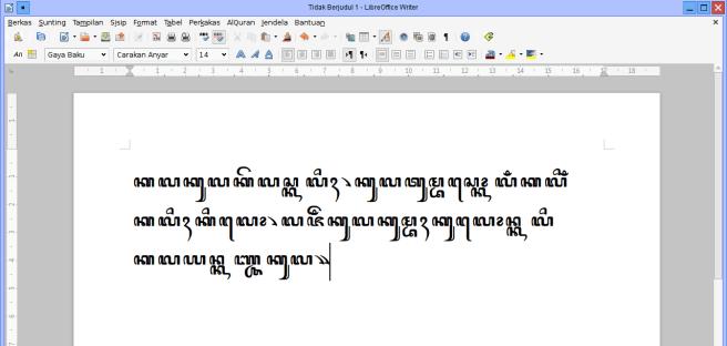 Mengetik aksara Jawa di Libre Office